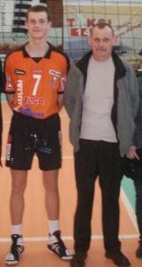 Audrius su tėte po finalo